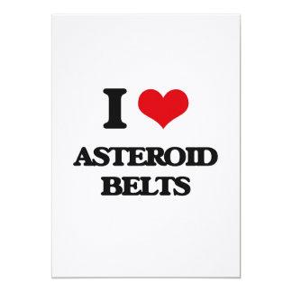 """Amo las correas asteroides invitación 5"""" x 7"""""""