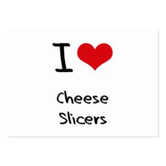 Amo las cortadoras del queso tarjetas de visita grandes