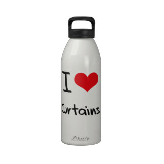 Amo las cortinas botella de agua