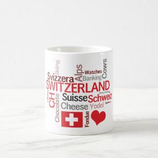 Amo las cosas suizas preferidas de Suiza Taza Básica Blanca