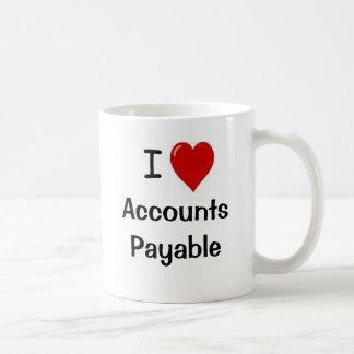 Amo las cuentas a pagar - el doble echó a un lado taza básica blanca
