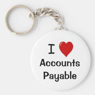 Amo las cuentas a pagar - las cuentas a pagar del  llavero redondo tipo pin