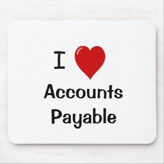 Amo las cuentas a pagar tapete de raton