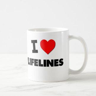 Amo las cuerdas de salvamento taza de café