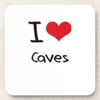 Amo las cuevas posavasos de bebidas