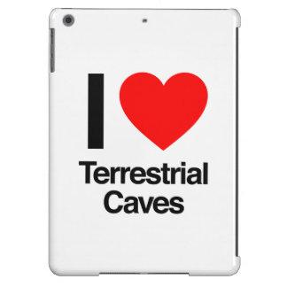 amo las cuevas terrestres funda para iPad air