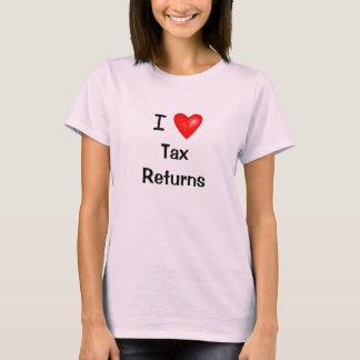 Amo las declaraciones de impuestos - camiseta del