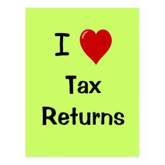 Amo las declaraciones de impuestos - postal del im
