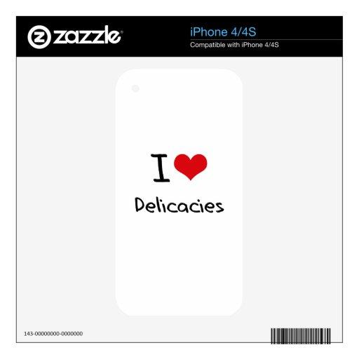 Amo las delicadezas iPhone 4 skins