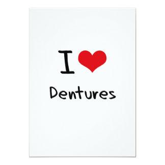 Amo las dentaduras invitación 12,7 x 17,8 cm