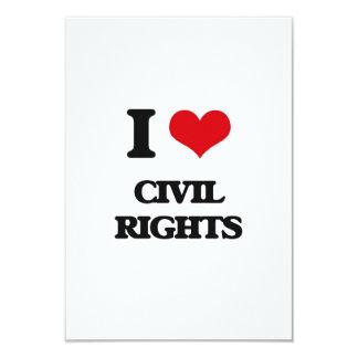 Amo las derechas civiles invitacion personalizada