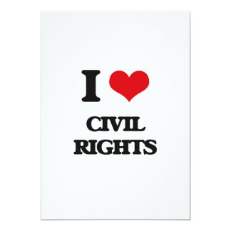 Amo las derechas civiles comunicado personalizado