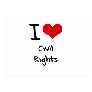 Amo las derechas civiles tarjetas de negocios