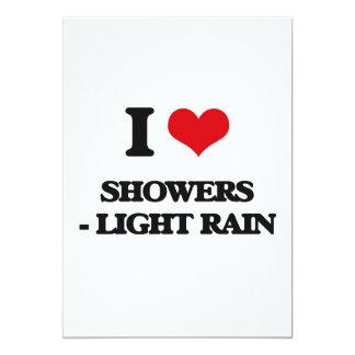 Amo las duchas - lluvia ligera invitación 12,7 x 17,8 cm