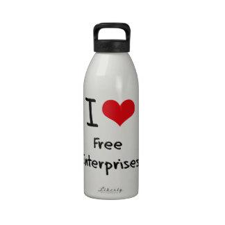 Amo las empresas libres botellas de agua reutilizables