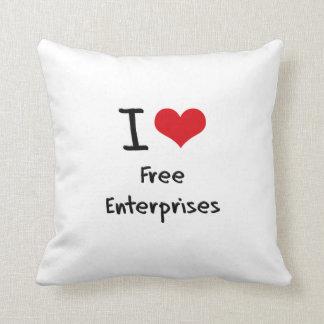 Amo las empresas libres almohadas