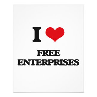 "AMO las empresas libres Folleto 4.5"" X 5.6"""