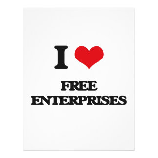 "AMO las empresas libres Folleto 8.5"" X 11"""