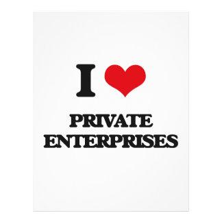 """Amo las empresas privadas folleto 8.5"""" x 11"""""""