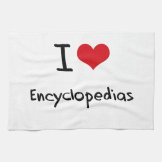 Amo las enciclopedias toallas de cocina