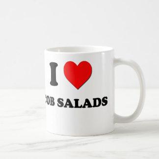 Amo las ensaladas de la mazorca taza básica blanca