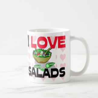Amo las ensaladas taza clásica