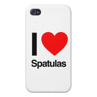 amo las espátulas iPhone 4 fundas