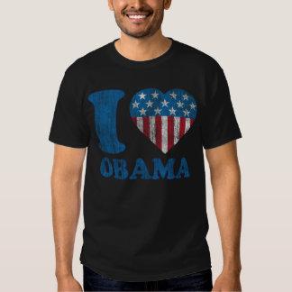 amo las estrellas clásicas de Obama - camisa del