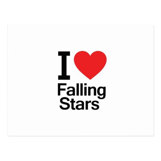 Amo las estrellas el caer tarjetas postales