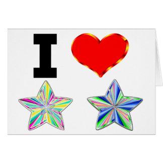 Amo las estrellas tarjeta de felicitación