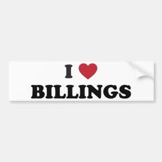 Amo las facturaciones Montana Etiqueta De Parachoque