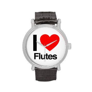 amo las flautas reloj de mano