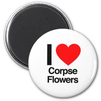 amo las flores del cadáver imán de frigorífico