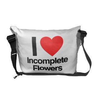 amo las flores incompletas bolsa messenger