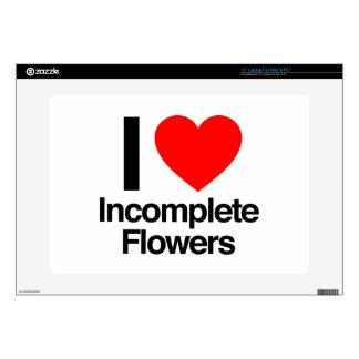 amo las flores incompletas portátil skin