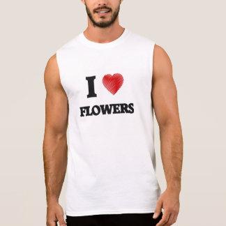Amo las flores playera sin mangas