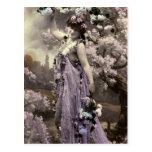 Amo las flores tarjeta postal