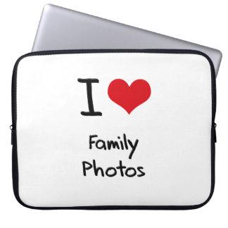 Amo las fotos de familia fundas portátiles