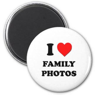 Amo las fotos de familia imán redondo 5 cm