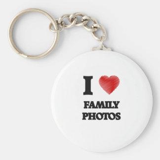 Amo las fotos de familia llavero redondo tipo pin
