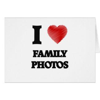Amo las fotos de familia tarjeta de felicitación