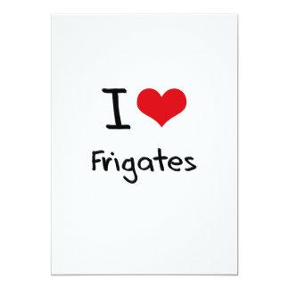 """Amo las fragatas invitación 5"""" x 7"""""""