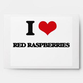 Amo las frambuesas rojas