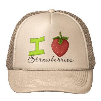Amo las fresas gorro de camionero