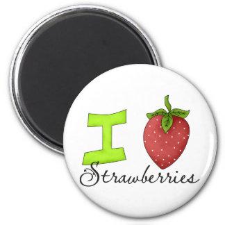 Amo las fresas imán de frigorifico