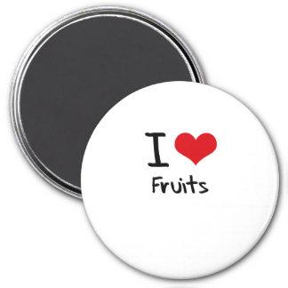 Amo las frutas iman de nevera