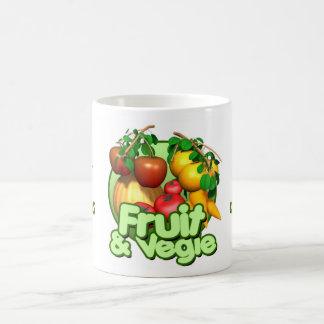 Amo las frutas y la taza de café de Vegies LG