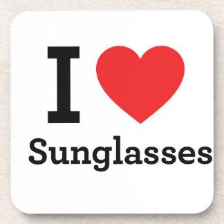 Amo las gafas de sol posavaso