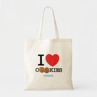 Amo las galletas bolsa tela barata