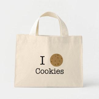 Amo las galletas bolsa tela pequeña